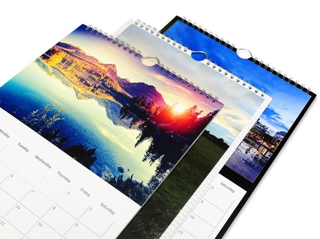 Custom and Personalised A4 Photo Wall Calendar