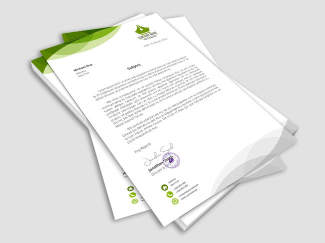 Business Letterhead Printing  High Quality Business Stationary